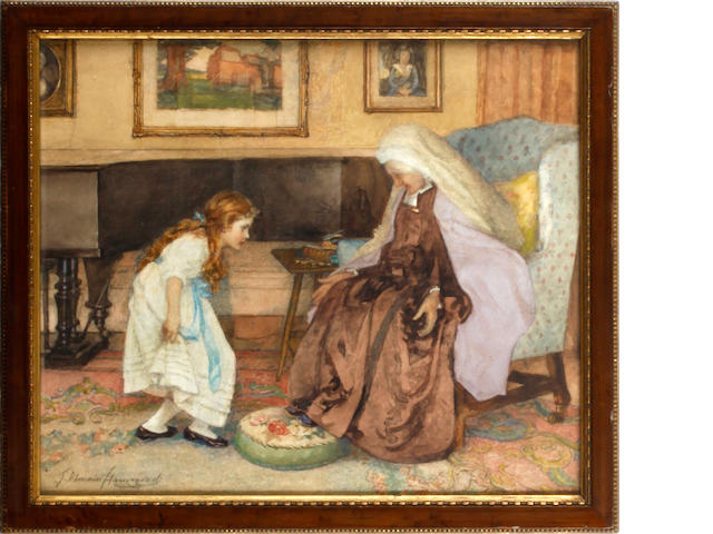 Gertrude Demain Hammond (British, 1862-1953) Mutual Reverence