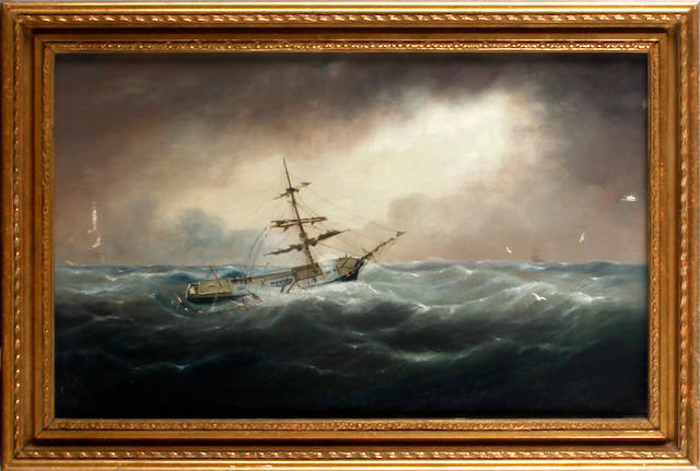 English School, 19th century Shipwreck