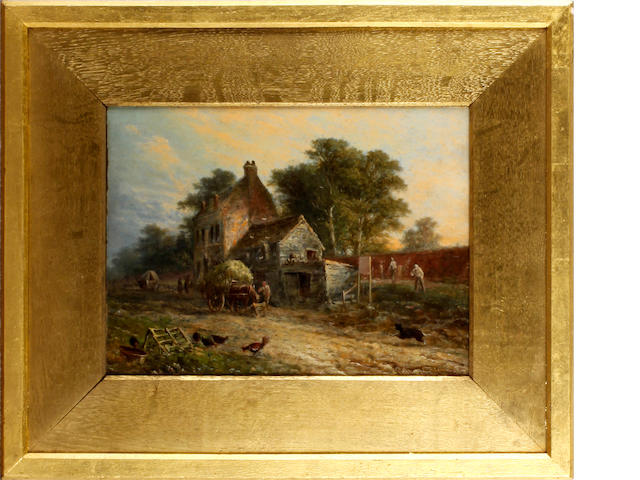 Walter Williams (British, 1835-1906) Farmyard scene