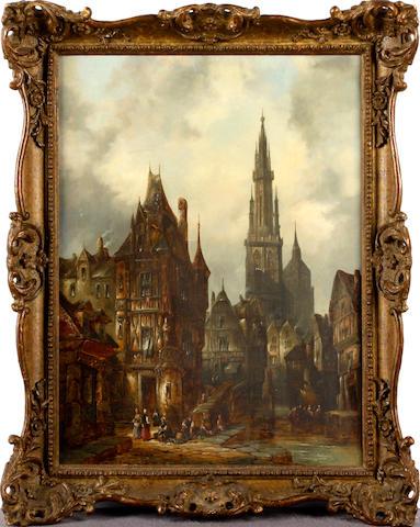 Henry Thomas Schafer, RBA (British, 1854-1915) Quai d'Egmont, Antwerp