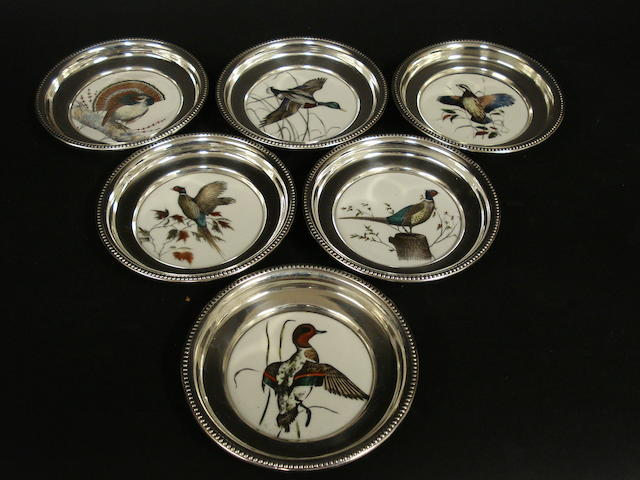 Set of 6 game bird coasters