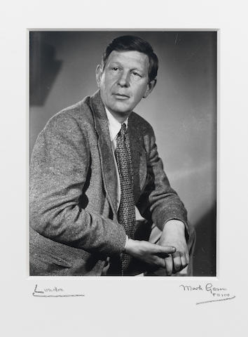 AUDEN, WYSTAN HUGH (1907-1973) PORTRAIT BY MARK GERSON, 1951