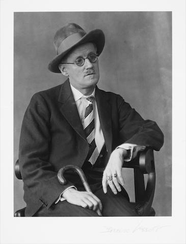 JOYCE, JAMES (1882-1941, Irish novelist and poet),PORTRAIT BY THE AMERICAN PHOTOGRAPHER BERNICE ABBOTT (1898-1991), [New York, 1928] (printed later)