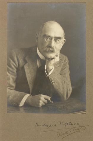 KIPLING, RUDYARD (1865-1936) PORTRAIT BY ELLIOTT & FRY, [1924]