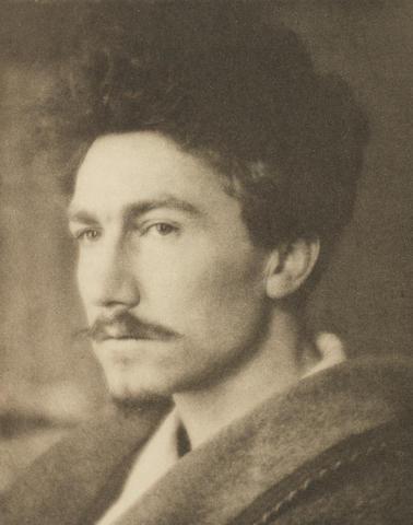 POUND, EZRA (1885-1972, American poet) PORTRAIT BY ALVIN LANGDON COBURN, [1922]