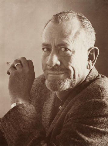 STEINBECK, JOHN (1902-1968, American writer), PORTRAIT BY AN UNKNOWN PHOTOGRAPHER