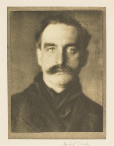 TRENCH, HERBERT (1865-1923, Irish poet), PORTRAIT BY ALVIN LANGDON COBURN, 1910