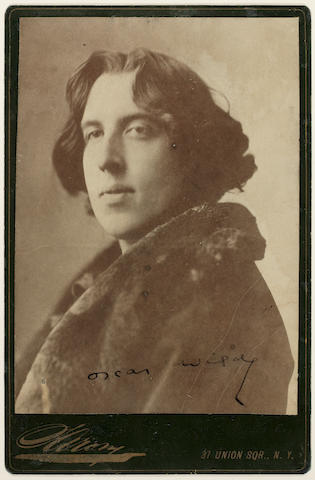 WILDE, OSCAR (1854-1900, poet and playwright) PORTRAIT BY NAPOLEON SARONY, [1882]