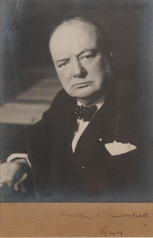 CHURCHILL, WINSTON SPENCER (1874-1965), PORTRAIT BY WALTER STONEMAN (1876-1958), [1 April 1942/1947]