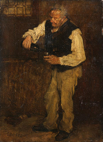 French School, 19th century The wine drinker