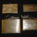 A small silver card case by S Mordan & Co.