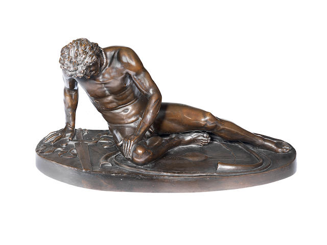 After the Antique: A late 19th century bronze figure of the Dying Gaul