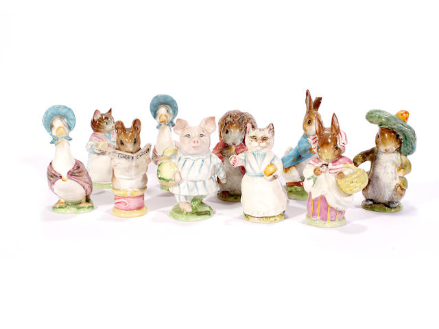 Ten Beswick Beswick Beatrix Potter figures