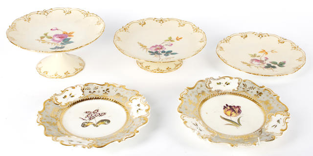 A Limoges thirteen piece dessert service