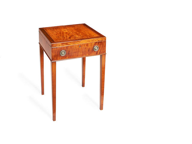 A George III 'satinwood' dressing table