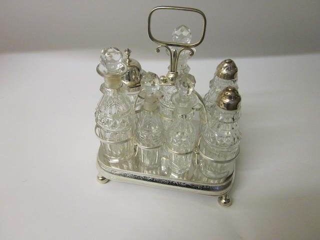 A George III bottle cruet, by Alexr. Goodman and Co., Sheffield 1806,