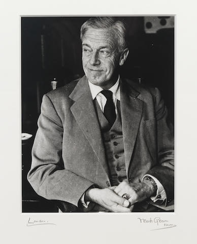 DAY-LEWIS, CECIL (1904-1972), PORTRAIT BY MARK GERSON (b. 1921), 1965