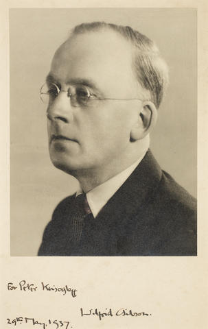 GIBSON, WILFRID WILSON (1878-1962), PORTRAIT BY GARNHAM STUDIOS, dated 29 May 1937