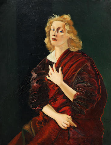 André Derain Portrait de Iya, Lady Abdy c.1934-39. Image via Bonhams.