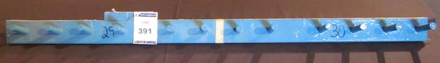 An original peg row from Manchester City's Maine Road Stadium