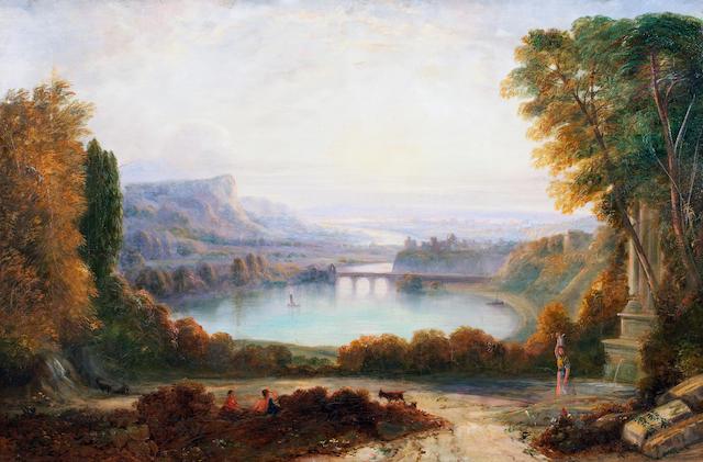 Italian School, (19th century) An Italian landscape