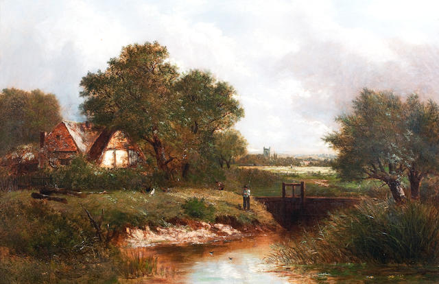 Joseph Thors (British, circa 1843-1898) Sluice Gate