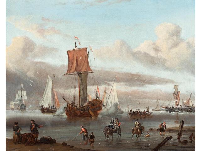 Circle of Abraham Jansz. Storck (Dutch, 1635-circa 1710), (18th century) Harbour Scene