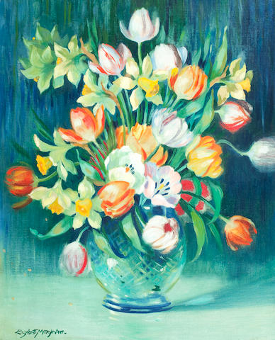 Elizabeth Mary Watt (Scottish, 1886-1954) Still life with tulips