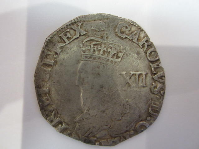 Charles I, Tower mint, under the King (1625-42), Shilling, 5.65g, Group D, crowned bust facing left, type 3a, no inner circles,