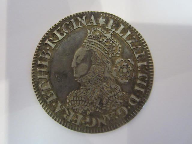 Elizabeth I (1558-1603), milled coinage, Sixpence, 3.02g, 1561, m.m. star, crowned with small bust left with large rose and date, elaborately decorated dress, ELIZABETH.D.G.ANG.FRA.ET.HIB.REGINA,