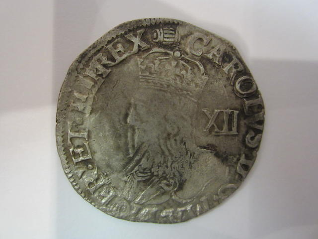 Charles I, Tower mint, under the King (1625-42), Shilling, 5.64g, Group D, crowned bust facing left with XII behind, type 3a, no inner circle,