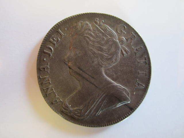 Anne (1702-14), Crown, 1707, second draped bust left,
