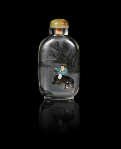 An inside painted snuff bottle Inscribed Ye Zhongsan beside a red seal