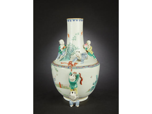 A famille rose vase  Xianfeng six-character mark