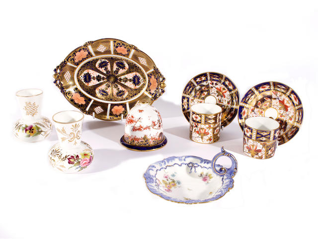 A group of Derby porcelain, 19th and 20th century