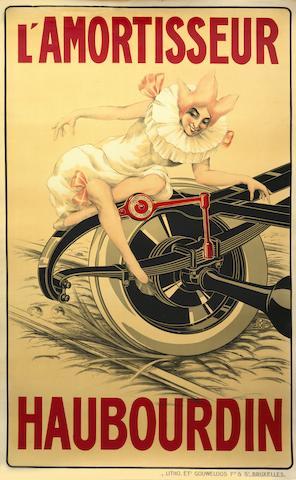 Rare affiche «  L'Amortisseur Haubourdin », circa 1910,