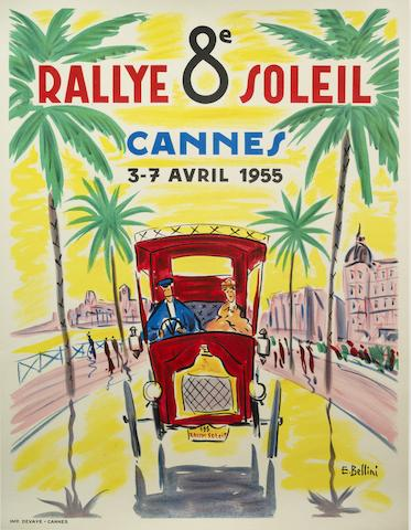 An '8th Rallye Soleil' poster, French, 1955,
