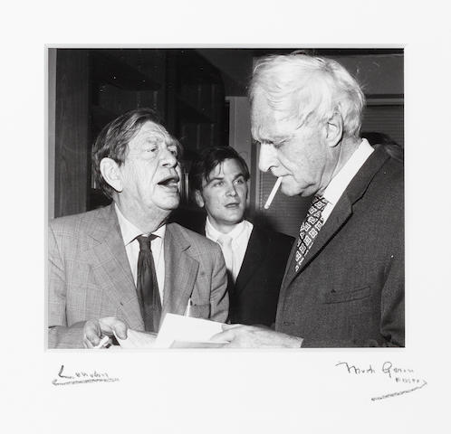 AUDEN, WYSTAN HUGH (1907-1973) and SPENDER, STEPHEN (1909-1995) PORTRAIT BY MARK GERSON, 1972