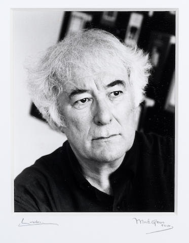 HEANEY, SEAMUS (b. 1939, Irish poet), PORTRAIT BY MARK GERSON (b. 1921), undated [but June 1996]