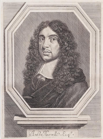 MARVELL, ANDREW (1621-1678), PORTRAIT BY AN UNKNOWN ARTIST, 1681