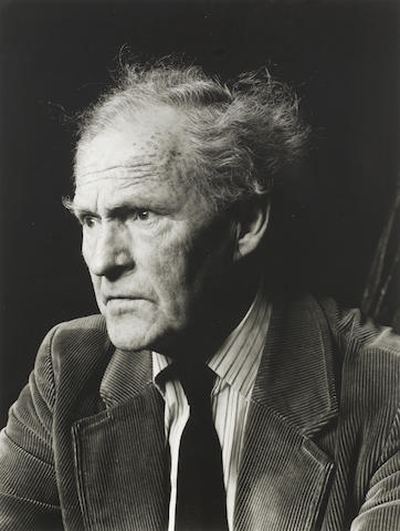THOMAS, RONALD STUART (1913-2000, Welsh poet), PORTRAIT BY CHRISTOPHER BARKER, 1986 (printed later)