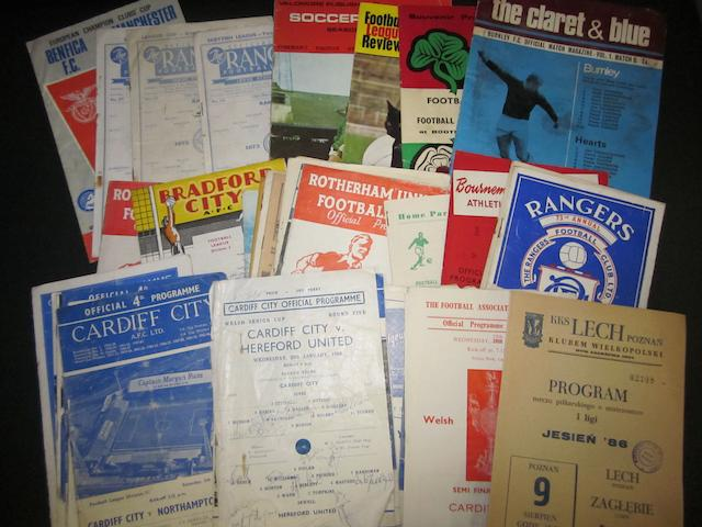 A collection of 1950/60's various clubs programmes