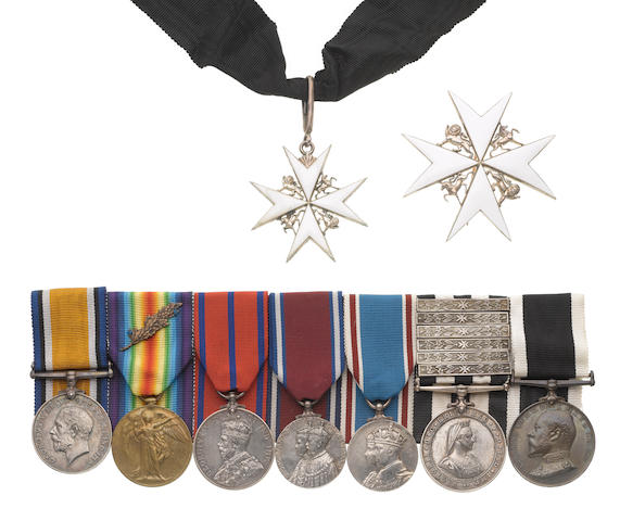 An Order of St John group of eight to Assistant Commander H.C.Chambers, St.John Ambulance Brigade,