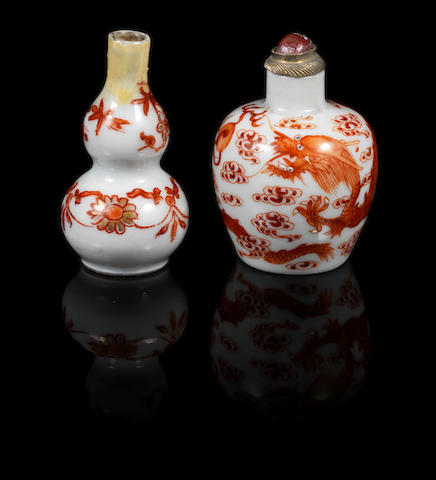 Two enamelled snuff bottles