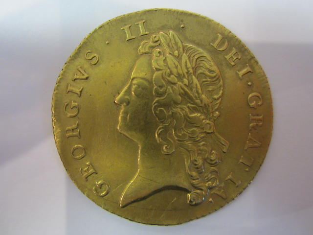 George II (1727-60), Two Guineas, 1738, laureate head left,