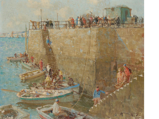 William Lee Hankey, RWS, RI, ROI, RE (British, 1869-1952) Small craft, Concarneau