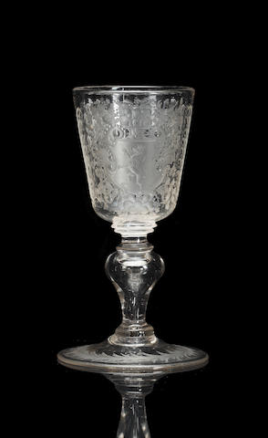 A German wine glass