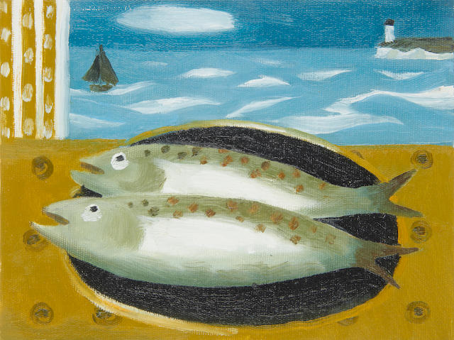 Mary Fedden R.A. (British, 1915-2012) Two Fish