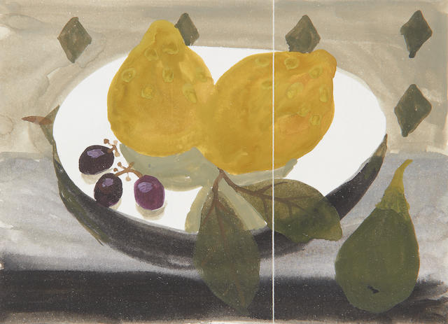 Mary Fedden R.A. (British, 1915-2012) Two qunices