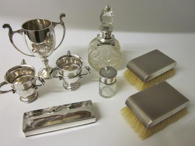 A small silver trophy cup, Birmingham 1931,   (8)